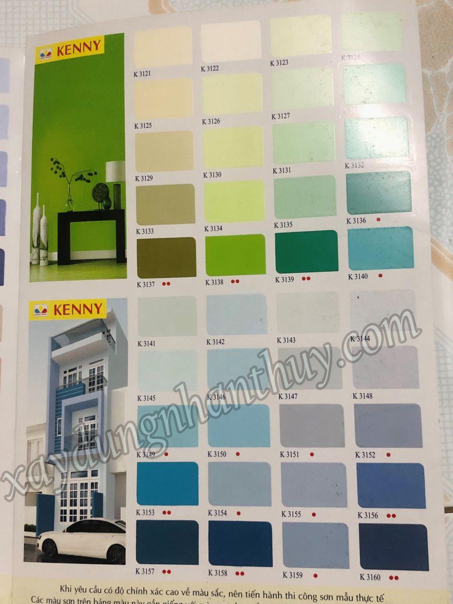 bảng màu sơn kenny