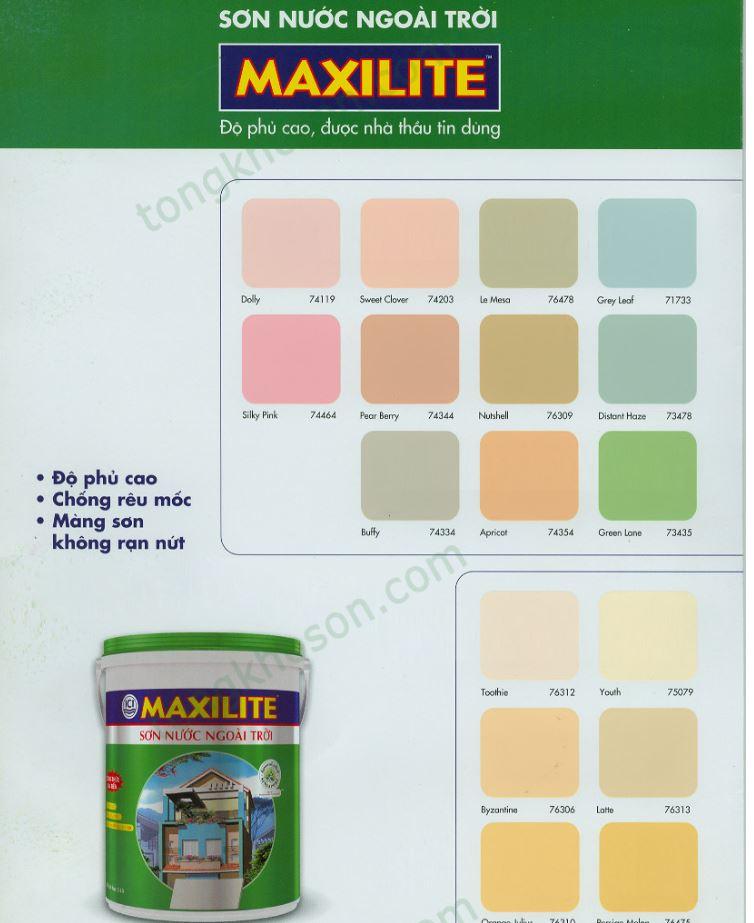 bảng màu maxilite ngoài trời