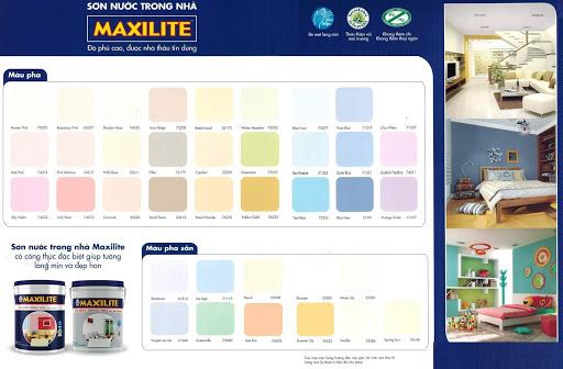 bảng màu sơn maxilite nội thất