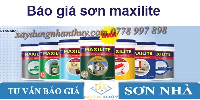 báo giá sơn maxilite