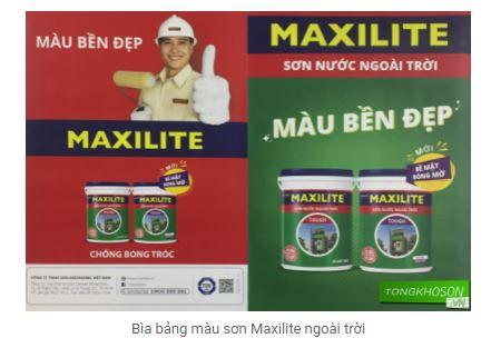 Catalog màu Maxilite ngoài trời
