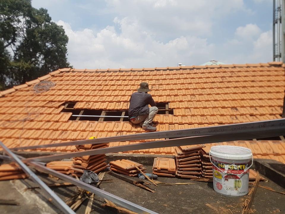 dịch vụ chống dột mái ngói bình chánh