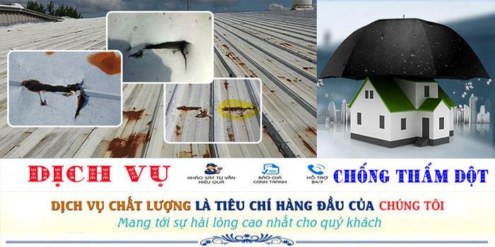 dịch vụ chống dột mái tôn quận 11