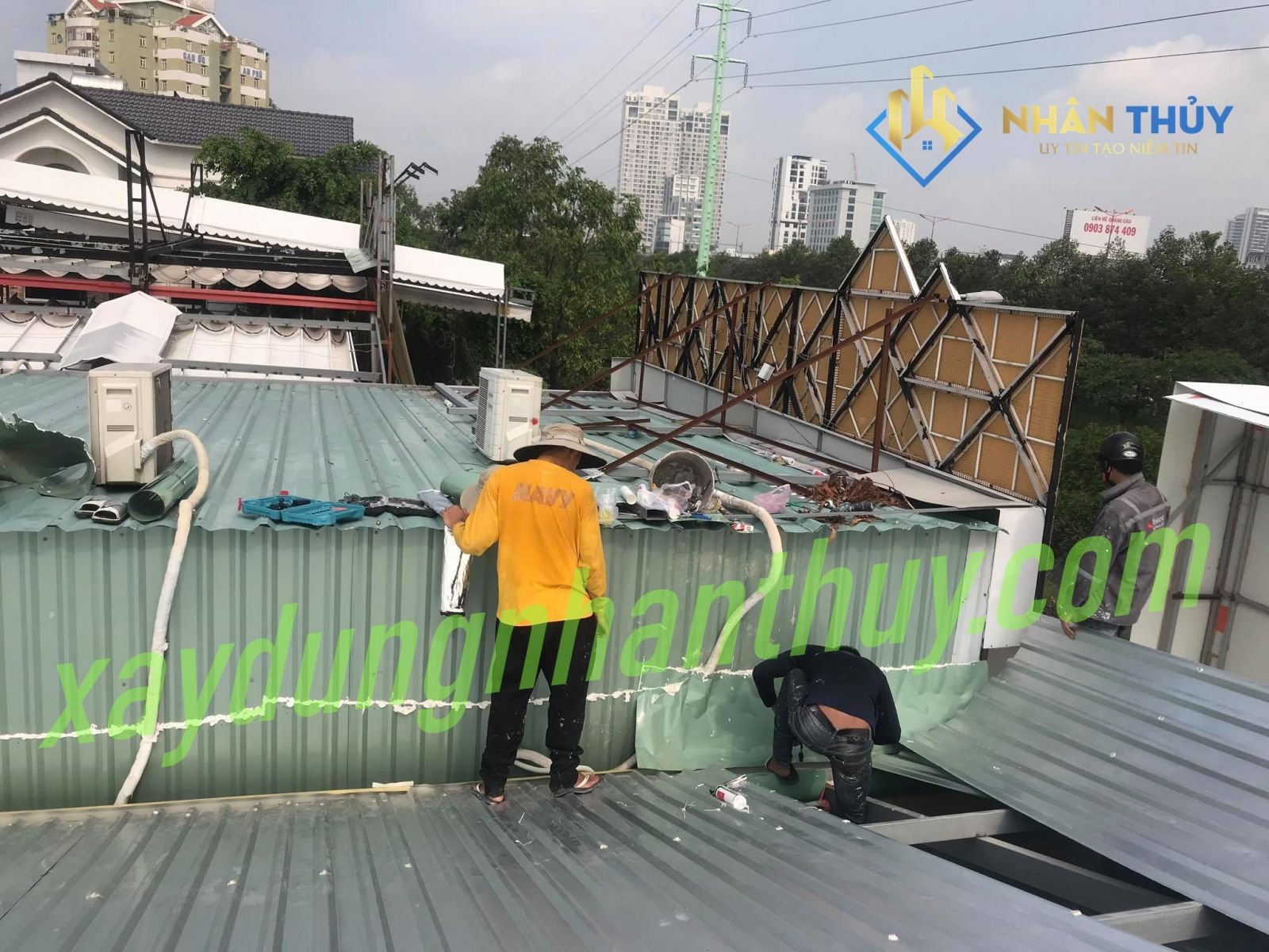thợ chống dột mái tôn tại long an