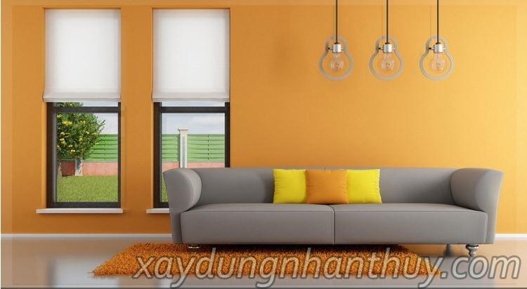 sơn nhà màu cam cho chồng mệnh hỏa vợ mệnh thổ