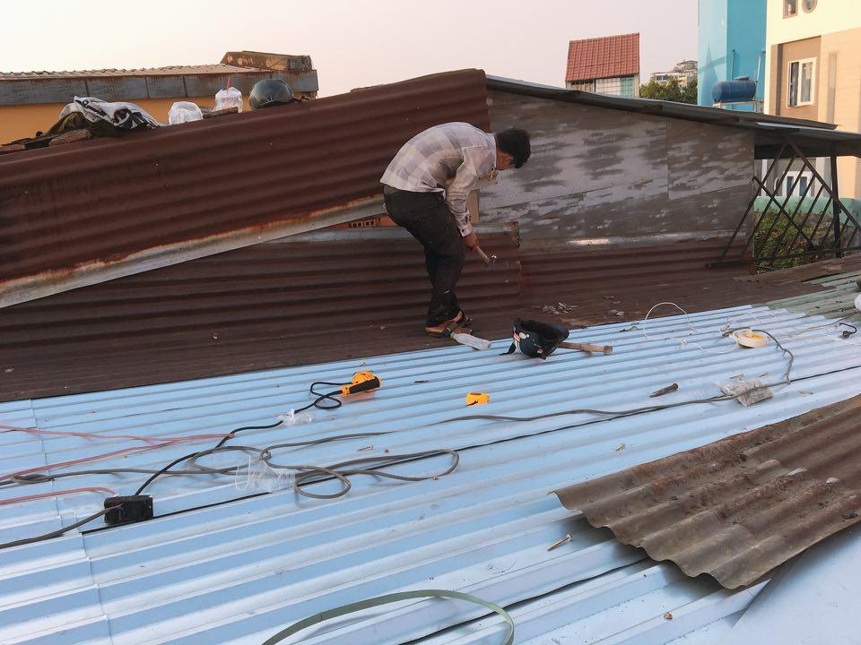 sửa mái tôn dột tại đồng nai