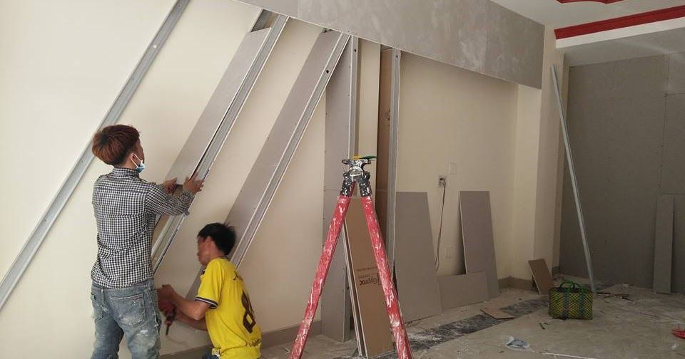 thợ đóng vách ngăn thạch cao tại quận 2
