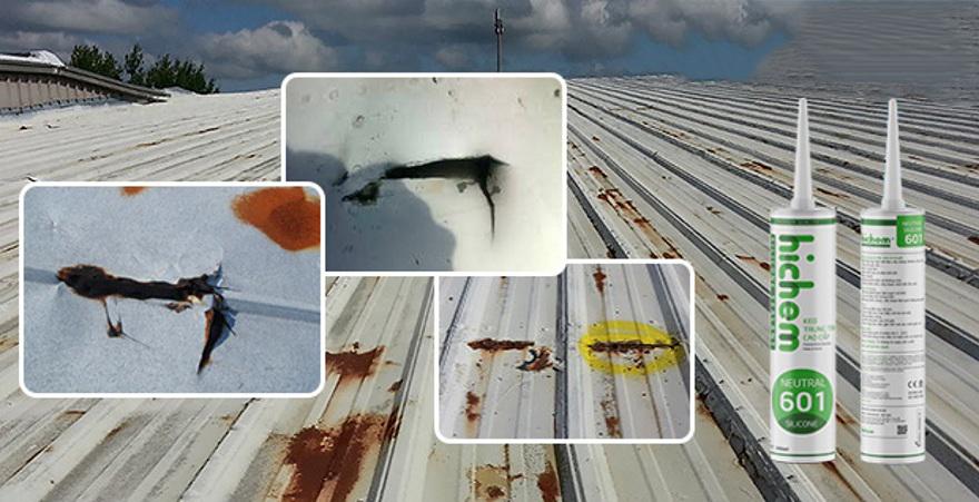 khắc phục mái tôn bị dột