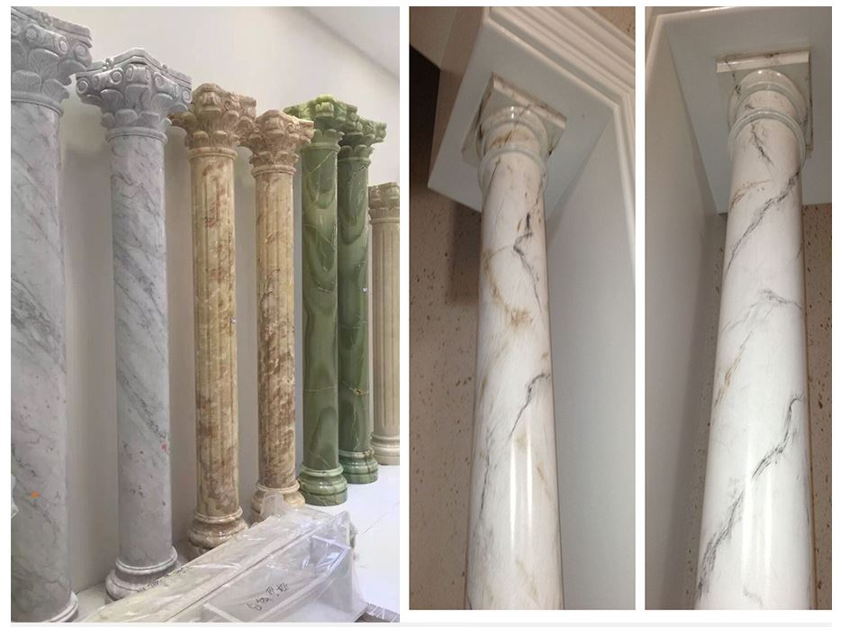 mẫu cột sử dụng sơn giả đá