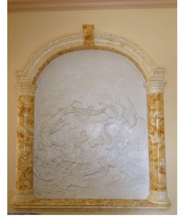 mẫu sơn giả đá cho vách tường