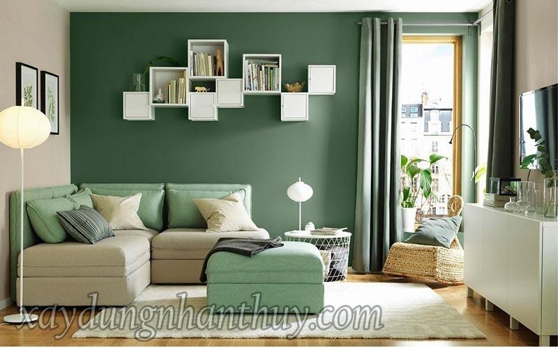 màu sơn phòng khách cho người mệnh hỏa