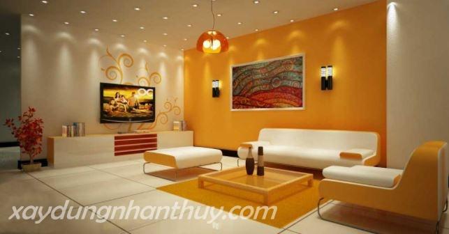 màu sơn phòng khách cho người mệnh thổ