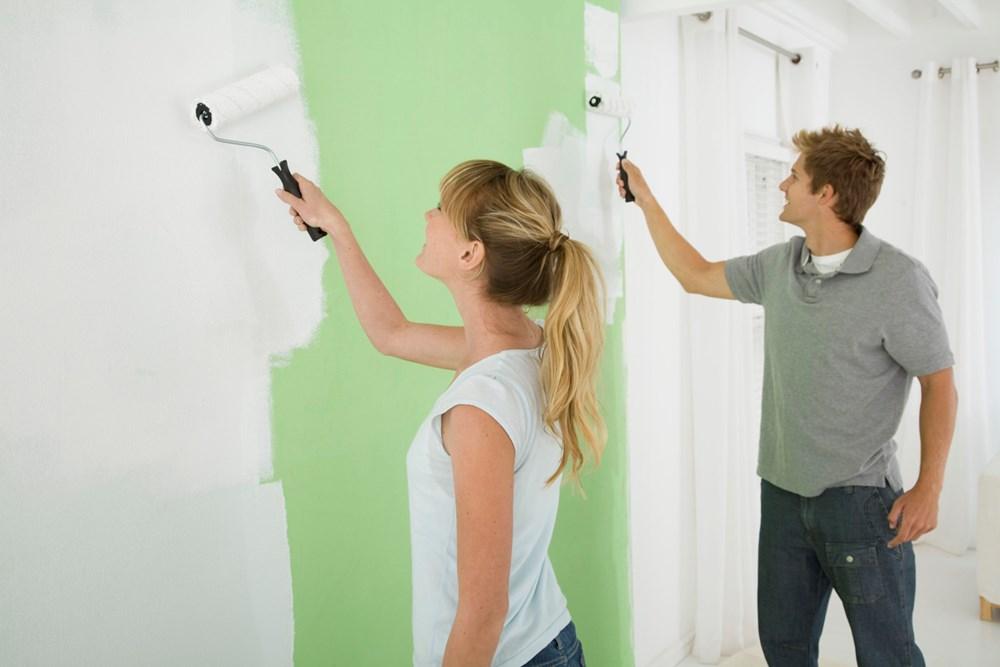 quy trình sơn trong nhà