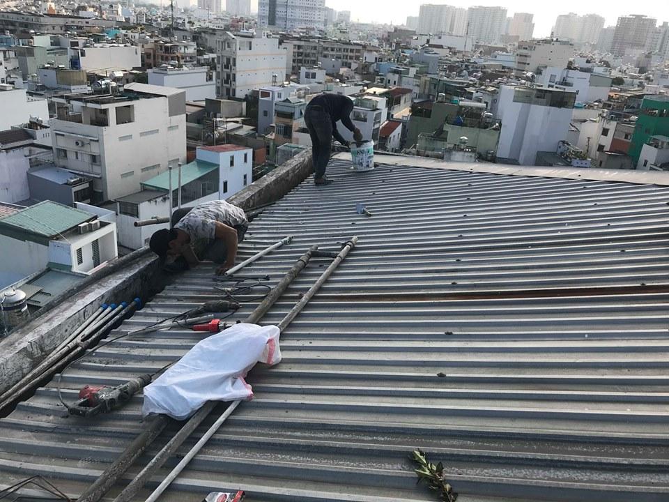 dịch vụ chống dột mái tôn nhà bè