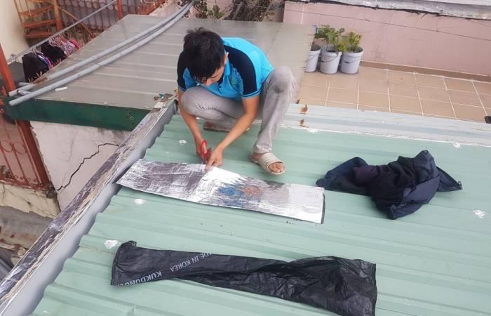 chống dột mái tôn nhà bè