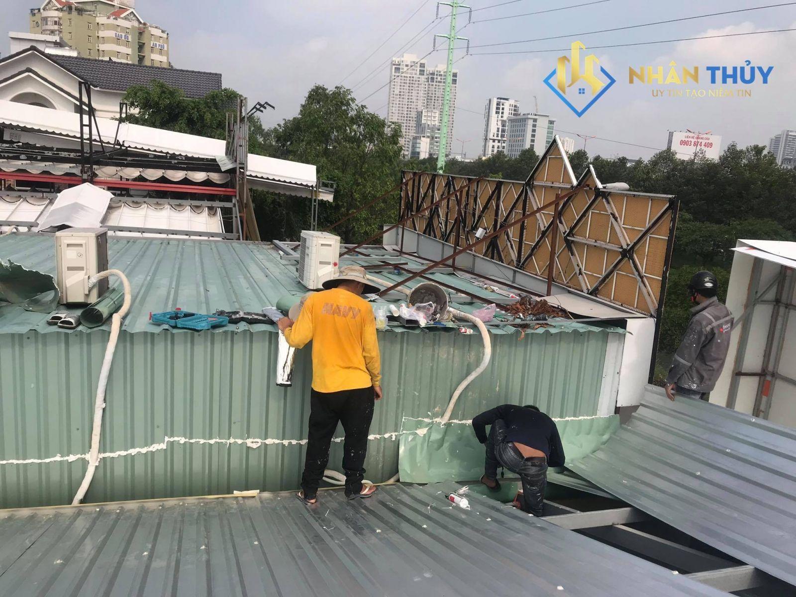 thợ lợp mái tôn tại quận 9